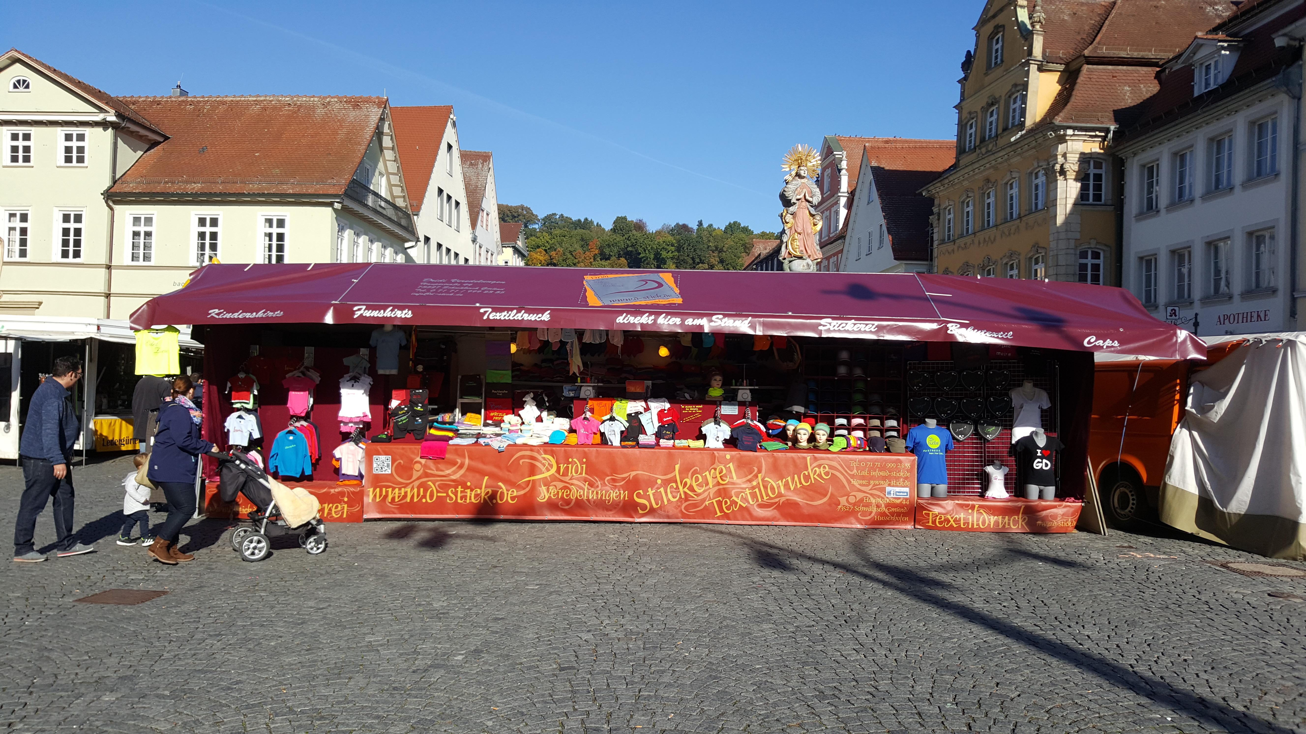 Schwäbisch Gmünd Weihnachtsmarkt.Tourdaten Dridi Stickerei Veredelungen
